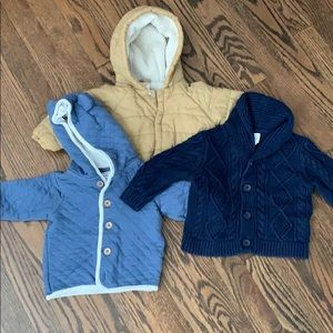 Boys coat sweater 6-12 months